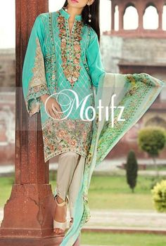Buy Sea Green Embroidered Linen Salwar Kameez by Motifz 2015 Call: (702) 751-3523 Whatsapp us at : 0092-3218864791 Viberapp us at : 0092-3218864791 Email: Info@PakRobe.com www.pakrobe.com https://www.pakrobe.com/Women/Clothing/Buy-Winter-Salwar-Kameez-Online #WINTER #SALWAR #KAMEEZ