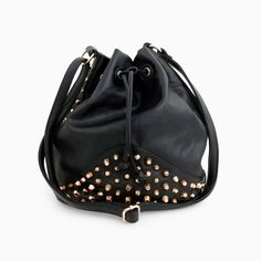 This might have to be my next black bag! Studded Bucket Bag