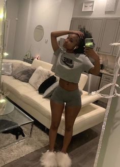 Cute Lazy Outfits, Cute Swag Outfits, Chill Outfits, Dope Outfits, Fashion Outfits, Danse Twerk, Outfits Mujer, Black Girl Aesthetic, Black Girl Fashion