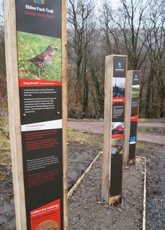 Ebbw Fach Trail Interpretive Trail Signage Interpretation Designers Smith and Jones Design Consultants