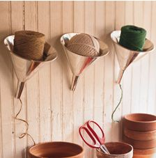 Funnels for yarn, twine or any other stringed item!