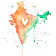 or – India Love / Watercolor Map Print / Wedding Gift / Anniversary Gift / Moving Gift / Travel / Wanderlust / South Asia 5 x 7 oder x 11 Indien Liebe Indian Independence Day Images, 15 August Independence Day, Independence Day Wallpaper, Indian Flag Wallpaper, Indian Army Wallpapers, 15 August Images, August 15, Wedding Gifts For Parents, India Wedding