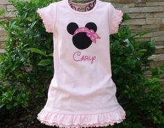 Personalized Miss Mouse Pirate Dress - Custom Made Sizes 6 mos-Girls 6X. $22.00, via Etsy.