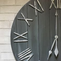 A gray spin on our classic white clock!! We're madly in love over here!!
