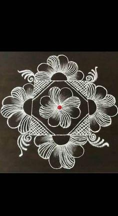 Indian Rangoli Designs, Rangoli Designs Latest, Simple Rangoli Designs Images, Rangoli Designs Flower, Rangoli Border Designs, Rangoli Patterns, Rangoli Designs With Dots, Beautiful Rangoli Designs, Latest Rangoli