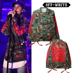 High Quality Mens Womens Justin Bieber Camouflage Off-White Jacket Kanye West Fashion Military Camo Off White Jackets And Coats #shoes, #jewelry, #women, #men, #hats, #watches, #belts