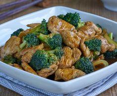 Salteado de pollo con brócoli