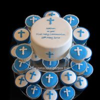 First Holy Communion Cupcake Tower