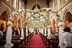 How To Decorate Church For Wedding Aisle Decorations