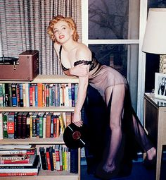 Marilyn Monroe photographed by Harold Lloyd during a photo session with Philippe Halsman, 1952