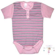Baba body, rózsaszín-fekete csíkos - Baby and Kid Fashion Lany, Fashion Kids, Onesies, Clothes, Tops, Women, Outfits, Clothing, Kleding