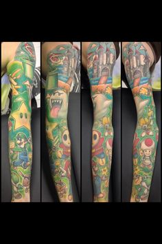 Fixed up a Mario/Video game sleeve.