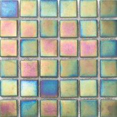 Emser Tile - Mystique Quadri mosaic iridescent glass