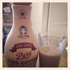My favorite treat! All natural, vegan, Almond Milk Iced Cafe Latte by Califia Farms! Yum!