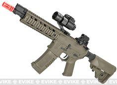 """ARES Amoeba CG 10"""" CQB M4 Airsoft AEG - Dark Earth, Airsoft Guns, Shop By Rifle Models, M4 - Evike.com Airsoft Superstore"""