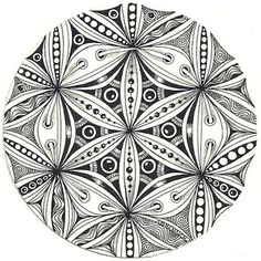 Enthusiastic Artist: Flower of Life, love love love the use of lace here by Margaret Bremner, Certified Zentangle Teacher.