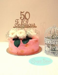 Vintage cake for 50th birthday