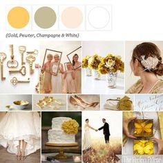 Gold, Pewter, Champagne and White via The Perfect Palette xo.