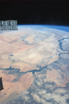 The Nile.  Taken July 14, 2013.  KN from space.