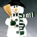 Washcloth Snowman - All Free Crafts