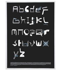twentytwentyone has exclusively launched Tim Fishlock's limited edition Typeseat print. Each letter of the alphabet is represented by an iconic chair from the twentieth century.