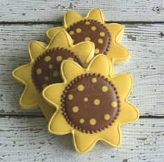 Sunflower Decorated Sugar Cookies