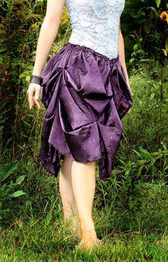burlesque bustle skirt pattern, short bustle skirt,