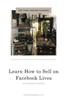 Sep 12, 2020 - Learn how to sell your products during Facebook LIVE Sales I've been doing it for almost 2 years now! I will walk you through the entire process. From what to say, to creating invoices and calculating shipping! The Junk Parlor | Old stuff and cool junk for your home thejunkparlor.com