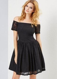 Kup mój przedmiot na #vintedpl http://www.vinted.pl/damska-odziez/suknie-balowe/20702957-czarna-bez-ramion-koronkowa-sukienka-na-studniowke-wesele-sugarfree-carmen