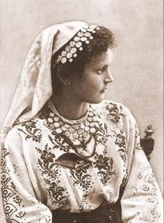 Various photographs depicting Romanian old folk costumes from late Century and early Century. THE VINTAGE THIMBLE Hungarian Embroidery, Folk Embroidery, Embroidery Designs, Traditional Dresses, Traditional Art, Romanian Gypsy, Folk Costume, Costumes, Gypsy Culture