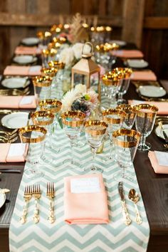 Coral, Blue and Gold Wedding Ideas - Pink Wedding Ideas | Inspiration from www.EventDazzle.com | Coral Wedding | Dream Wedding | Coral Wedding Ideas