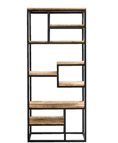 Boekenkast staal en schappen van oud steigerhout Afm: H180xB80xD40cm Living Spaces, Living Room, Industrial Furniture, Bookcase, Lounge, Shelves, Decoration, Cosy, Home Decor