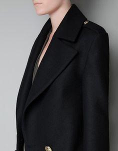 SHORT MILITARY JACKET - Coats - Woman - ZARA