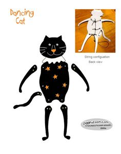 Jointed Dancing Cat Craft