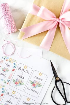 Use these feminine, floral, and free printable gift tags to wish your favorite person a happy birthday. Easy digital download.
