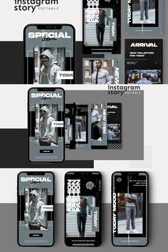 Introducing!, Instagram Story Template  warning : Editting skill needed, Before you edit the template you must have PhotoShop. This creative and modern Template is 100% available in PSD editable.  Features      Easy to edit templates with fully customizable text, & images     Create beautiful mockups for Desktop, Tablet & Mobile     Pixel-perfect Image Guides - updated for 2019     Meticulously organized & labeled layers     High-Resolution PSD files     Size 1080 x 1920  Social Media Banner, Social Media Template, Social Media Design, Instagram Design, Free Instagram, Instagram Posts, Instagram Story Template, Instagram Story Ideas, Ad Design