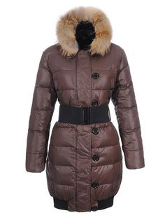 Discount Moncler Lucie New Pop Star Womens Fur Collar Coats Coffee - $237.15 Moncler Coats www.monclerlines....