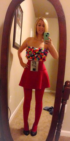 DIY Gumball machine Halloween costume!
