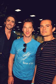 """Benedict w/ Lee & Orlando @ SDCC 2014 """