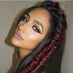 Obsessed with this bronzed look with colourful eyes on #mua @ash_kholm