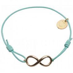"""Das Armband """"Forever Big"""" in Gold und Mint vom beliebten Hannoveraner Label Lua ist ein dezenter Blickfang für jeden Tag."""
