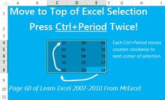 You've selected 10000 rows in Excel. Keep that selection but move so you can see the top with Ctrl+Period twice.