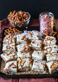 White Chocolate Pretzel Bars
