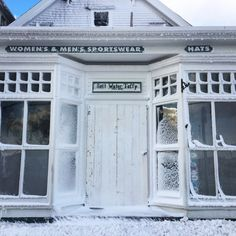 A blizzard hit last week. Here's a frozen over Star Department Store - a great gift shop on the Block Island, Winter Is Here, Photo Series, Life Photo, Island Life, Home And Away, Department Store, Rhode Island, Frozen