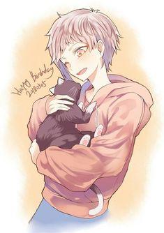 That is an Aku-colored kitty. I am dying. Dazai Bungou Stray Dogs, Stray Dogs Anime, Neko, Manga Art, Anime Art, Bungou Stray Dogs Atsushi, Arte Emo, Bungou Stray Dogs Characters, Pikachu