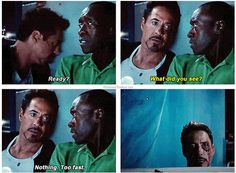 At first I was mad when Rhodey switched actors, but now I just love the two of them so much. Why does Rhodey have to diiiieee????!!