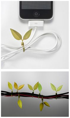 leaf cable ties... awesome!