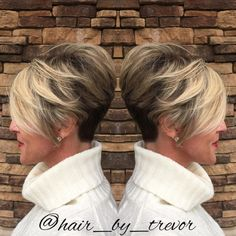 Two Tone Pixie With Nape Undercut