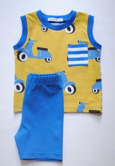 Organic Cotton Baby Set,Baby Boy Set,Tank-top and Shorts,Toddler Set,Summer Set