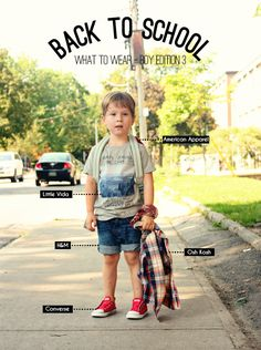 Back To School : what to wear boy edition 3